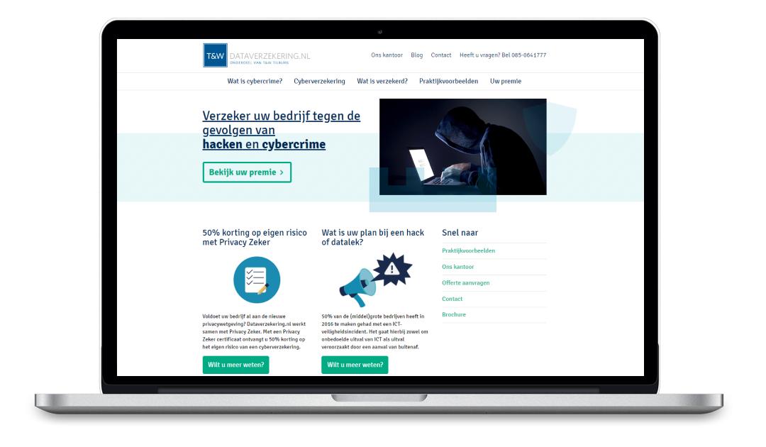 Snel en eenvoudig online je cyberverzekering afsluiten doe je op Dataverzekering.nl